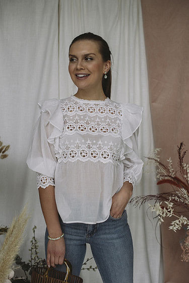 Joni Blouse Blessed White