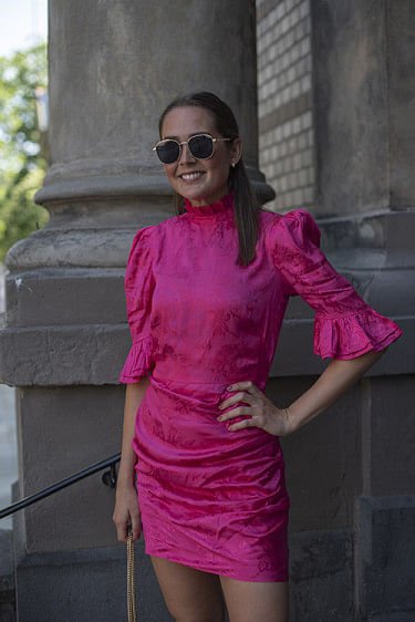 Ruby Dress Hot Pink