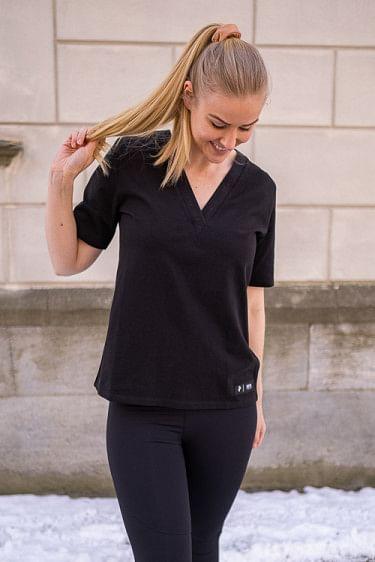 Tech V-Neck T-Shirt Black