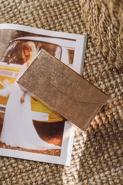 Quay Fold Up Case 4pc Rose/Gold solbrilletui