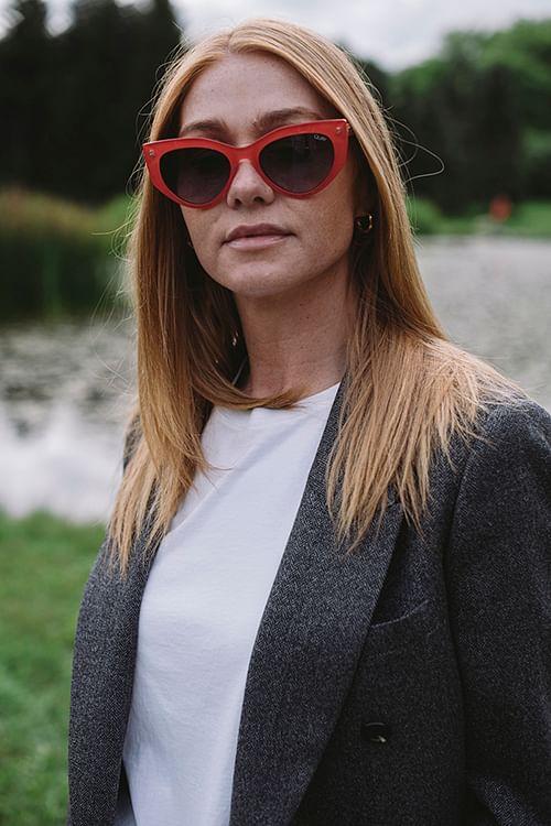 Quay Persuasive Rød solbriller
