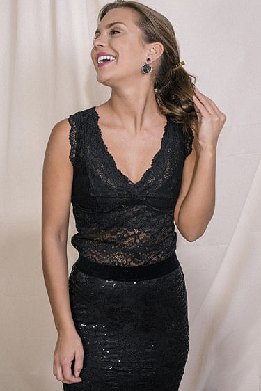 Top Full Lace Black