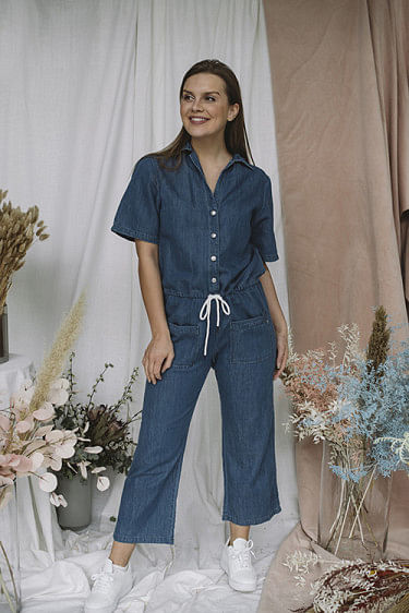 Denim Jumpsuit Medium Blue