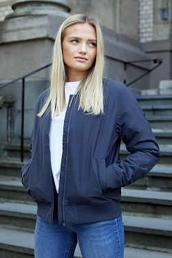 Woman Bomber Grey