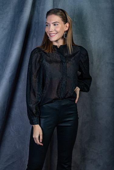 Cassiopeia Ls Shirt Black