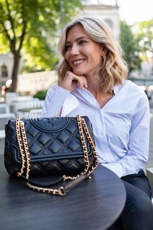 Fleming Soft Convertible Shoulder Bag Black