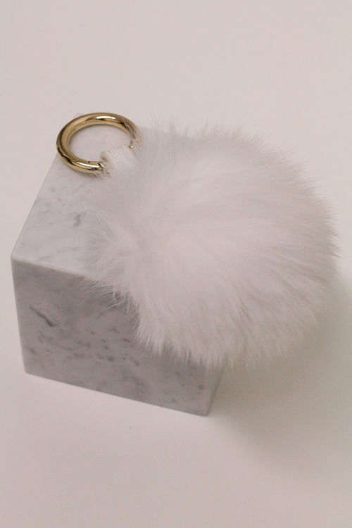 Treasure Box Fox Pom Pom Liten Hvit