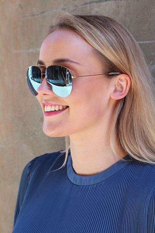Victoria Beckham Classic Victoria Blue solbriller