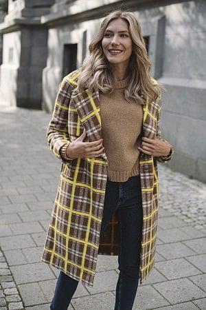 Livia Squared Coat Rawhide