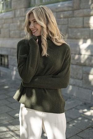 Damsville Sweater Pesto