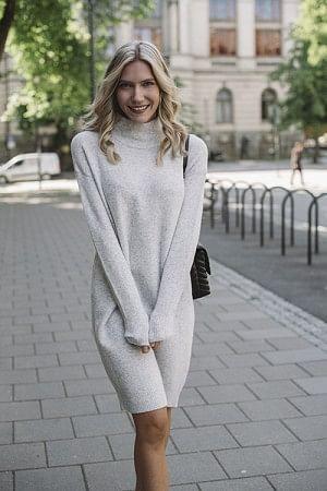 Damsville Dress Heather Grey