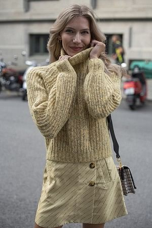 Collins Sweater Straw Yellow
