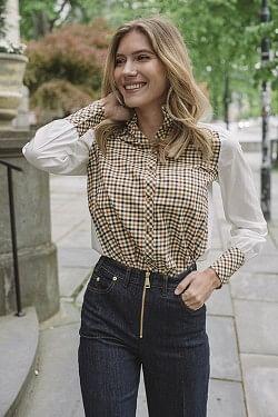 Maisy Shirt Brown Check