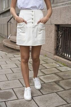 Shannon Skirt White Denim
