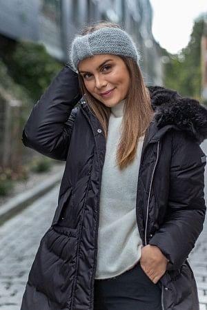 Lina Headband Light Grey Melange