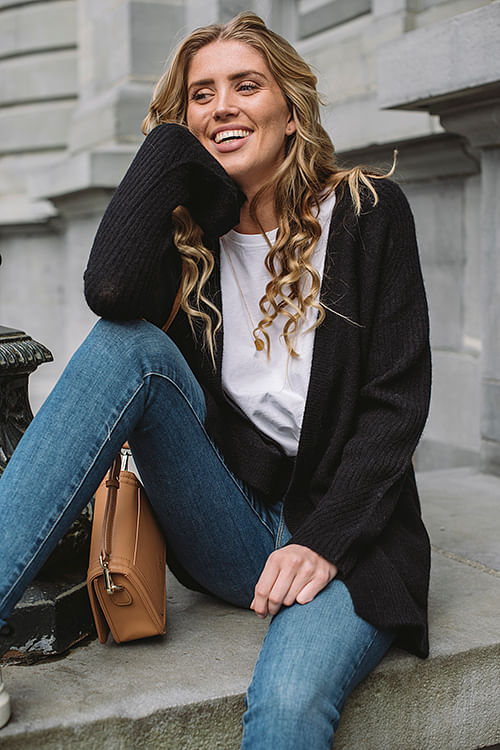 Ursula Black Cardigan