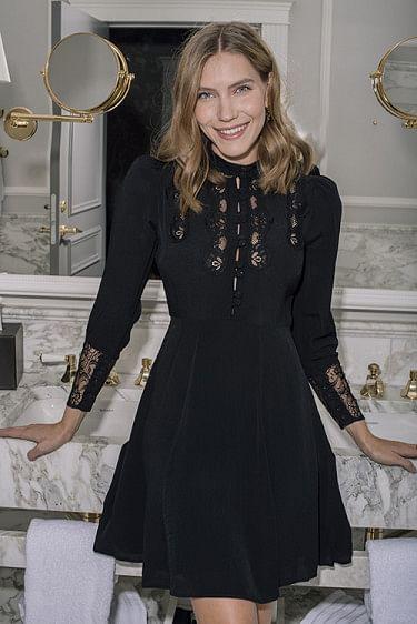 Elegant Lace Dress Black