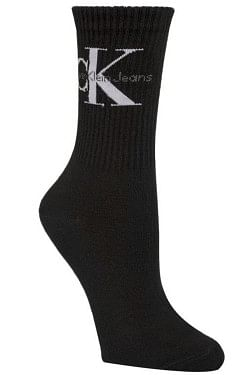Bowery Logo Crew Socks Black
