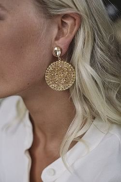 Alexandra Crystal Rocks Earrings Golden Shadow