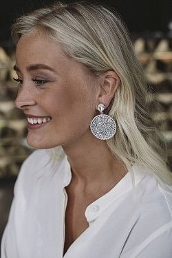 Alexandra Crystal Rocks Earrings Rhodium Crystal
