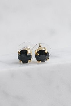 Classic Studs Earrings Jet