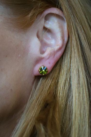 Classic Stud Earring Gold Olivine