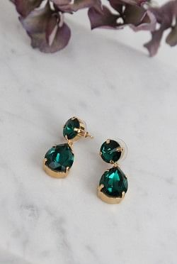 Classic Drop Earrings Emerald