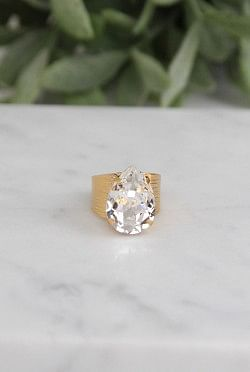 Classic Drop Ring Crystal