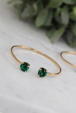 Classic Stud Petite Bracelet Emerald