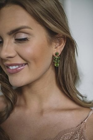 Mini Dione Earring Gold Olivine