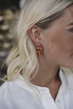 Mini Dione Earrings Tangerine