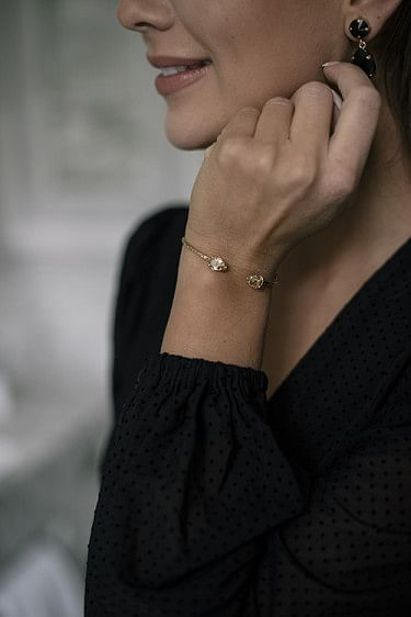 Petite Mini Drop Bracelet Golden Shadow