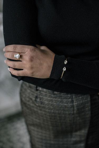Petite Drop Bracelet Crystal