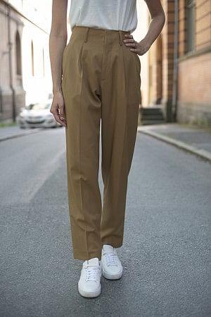 Front Pleat Pants Camel