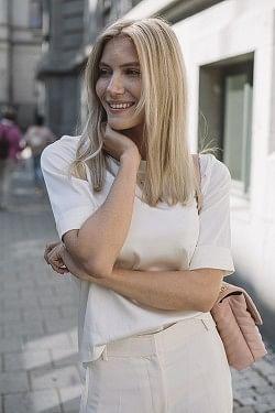 Silk Tee-Shirt Off White