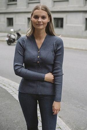 April Knit Blue