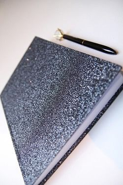 Glitter Notebook Blue