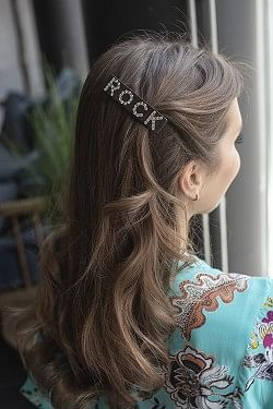 Rock Hair Clip Large Chocolate Brown