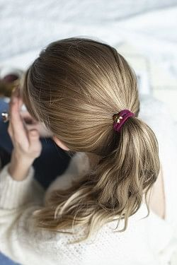 Velvet Hair Tie Heart Wildberry