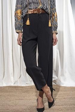 Classic Gabardine Pants Black