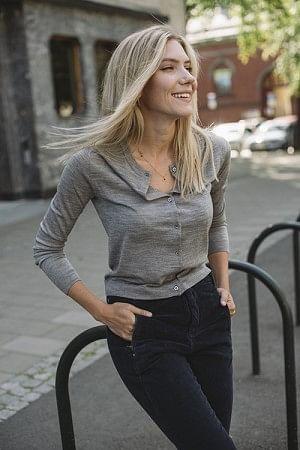 Whitney Cardigan Medium Grey