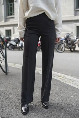 Classic Gabardine Pants Long Black