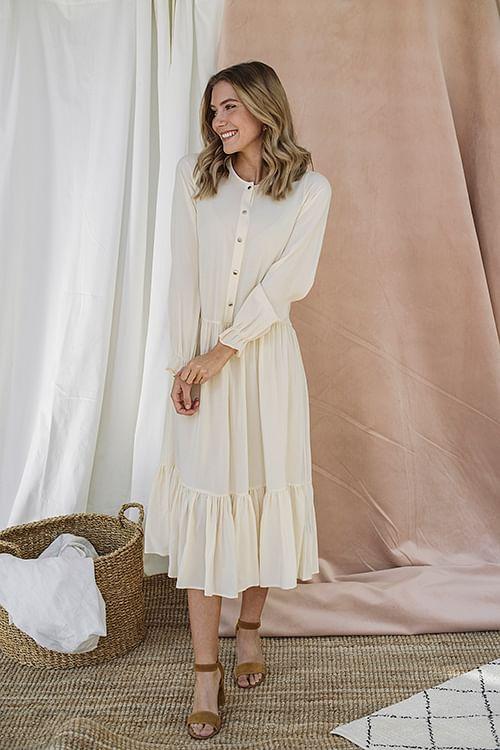 Designers Remix Nini A-Line Dress Raw kjole