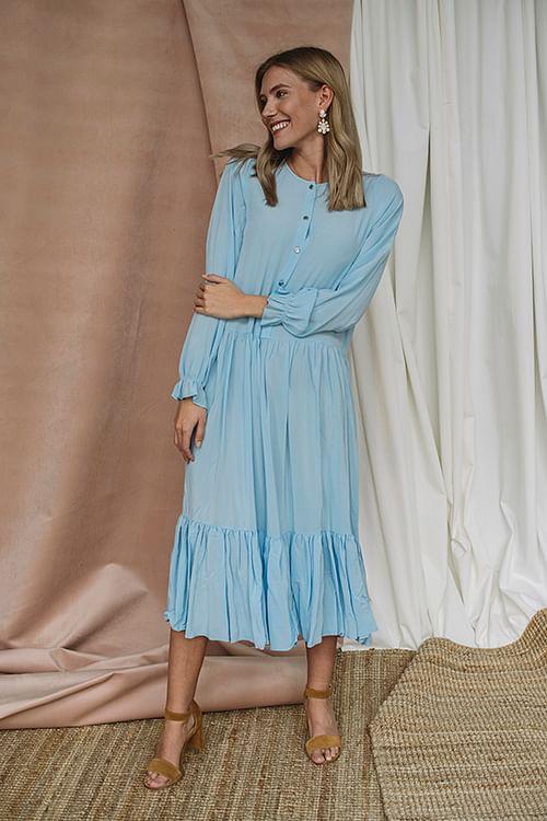 Designers Remix Nini A-Line Dress Sky Blue kjole
