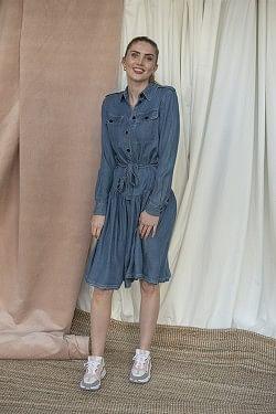 Camden Shirt Dress Medium Denim