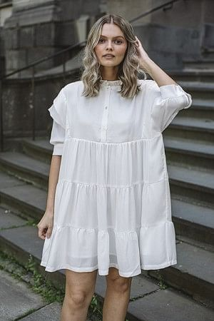 Elda Layered Dress Cream