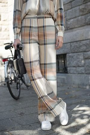 Frigg Pants Multi Col Check