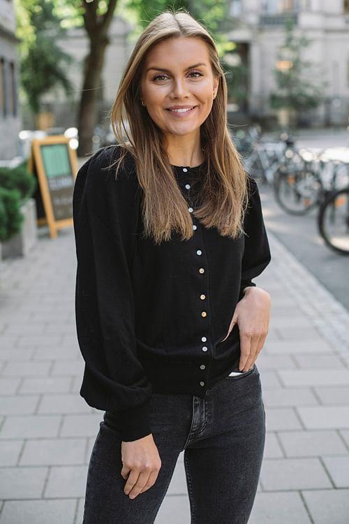 Kate Merino Cardigan Black