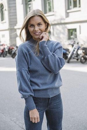 Blue Merino Sweater Blue