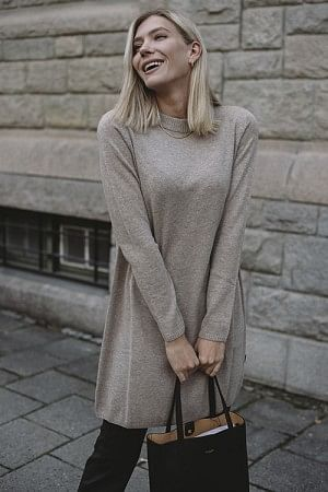 Ellie Wool Dress Granola